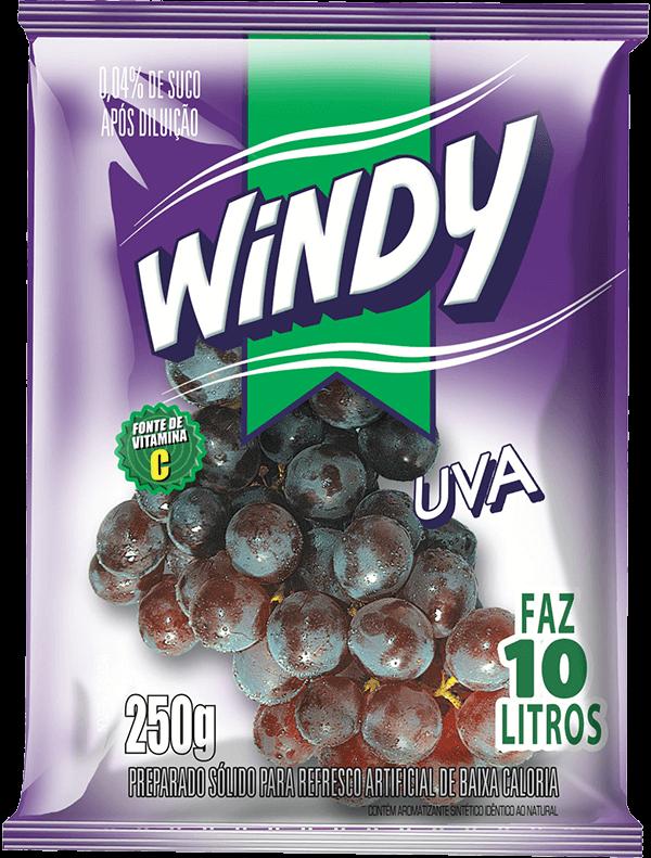 Refresco em pó Windy - Uva