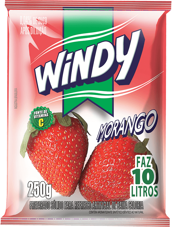 Refresco em pó Windy - Morango