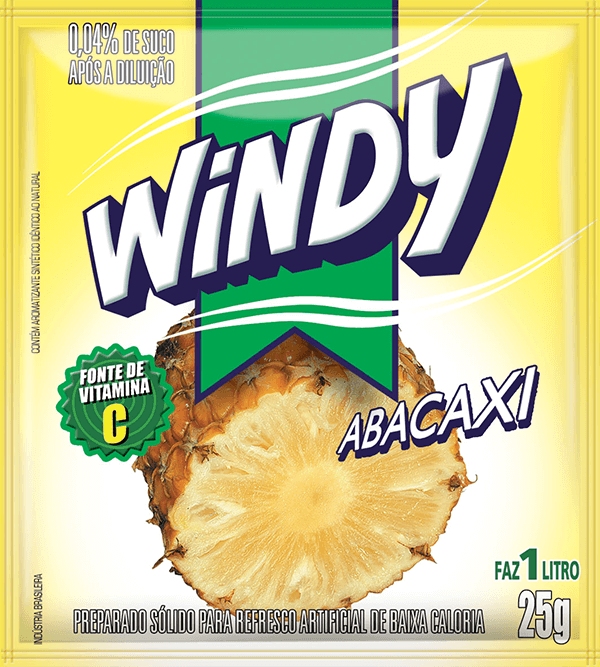 Refresco em pó Windy - Abacaxi