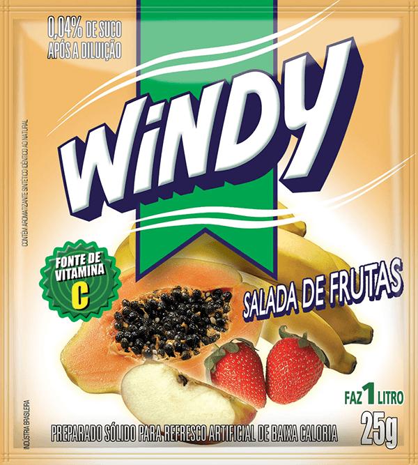 Refresco em pó Windy - Salada de frutas
