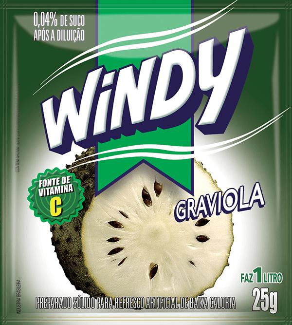 Refresco em pó Windy - Graviola
