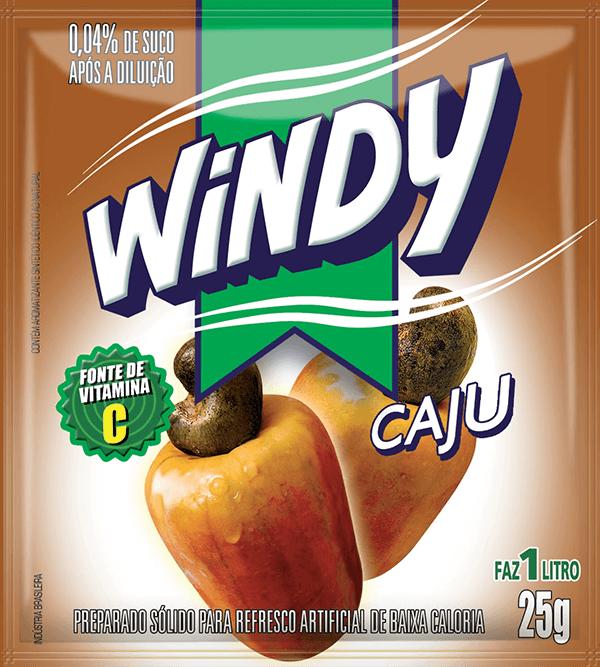 Refresco em pó Windy - Caju