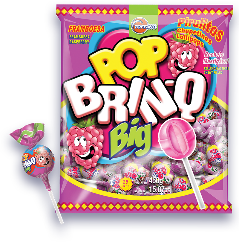 Pop Brinq Big - Pirulito Framboesa