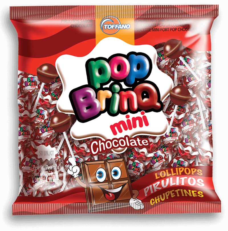 Pop Brinq Mini - Pirulito Chocolate