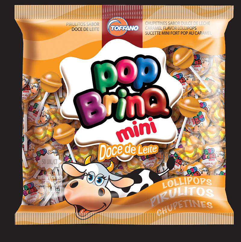 Pop Brinq Mini - Pirulito Doce de Leite