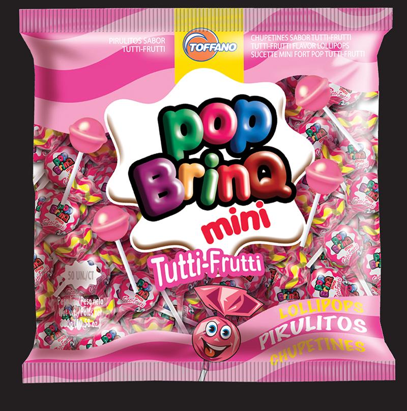 Pop Brinq Mini - Pirulito Tutti-Frutti