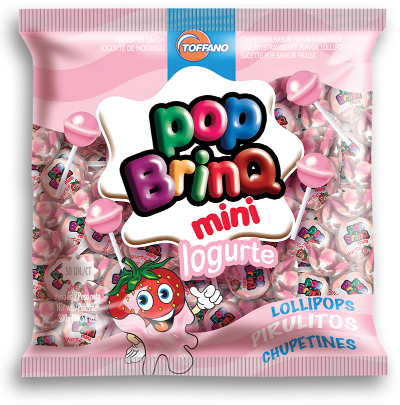 Pop Brinq Mini - Pirulito Iogurte