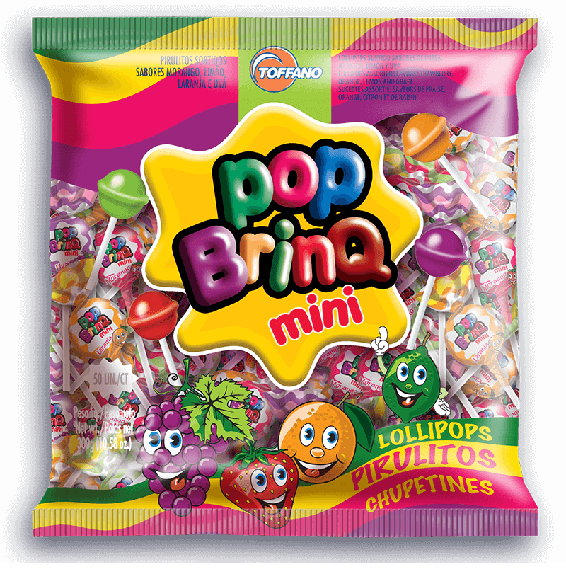 Pop Brinq Mini - Pirulito Frutas