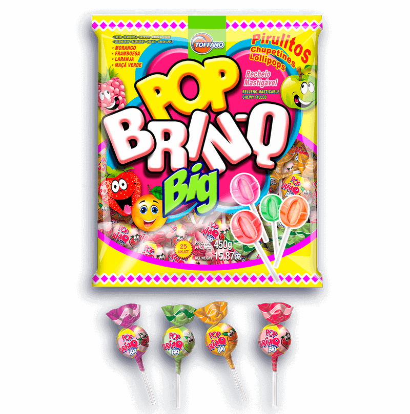 Pop Brinq Big - Pirulito Sortido