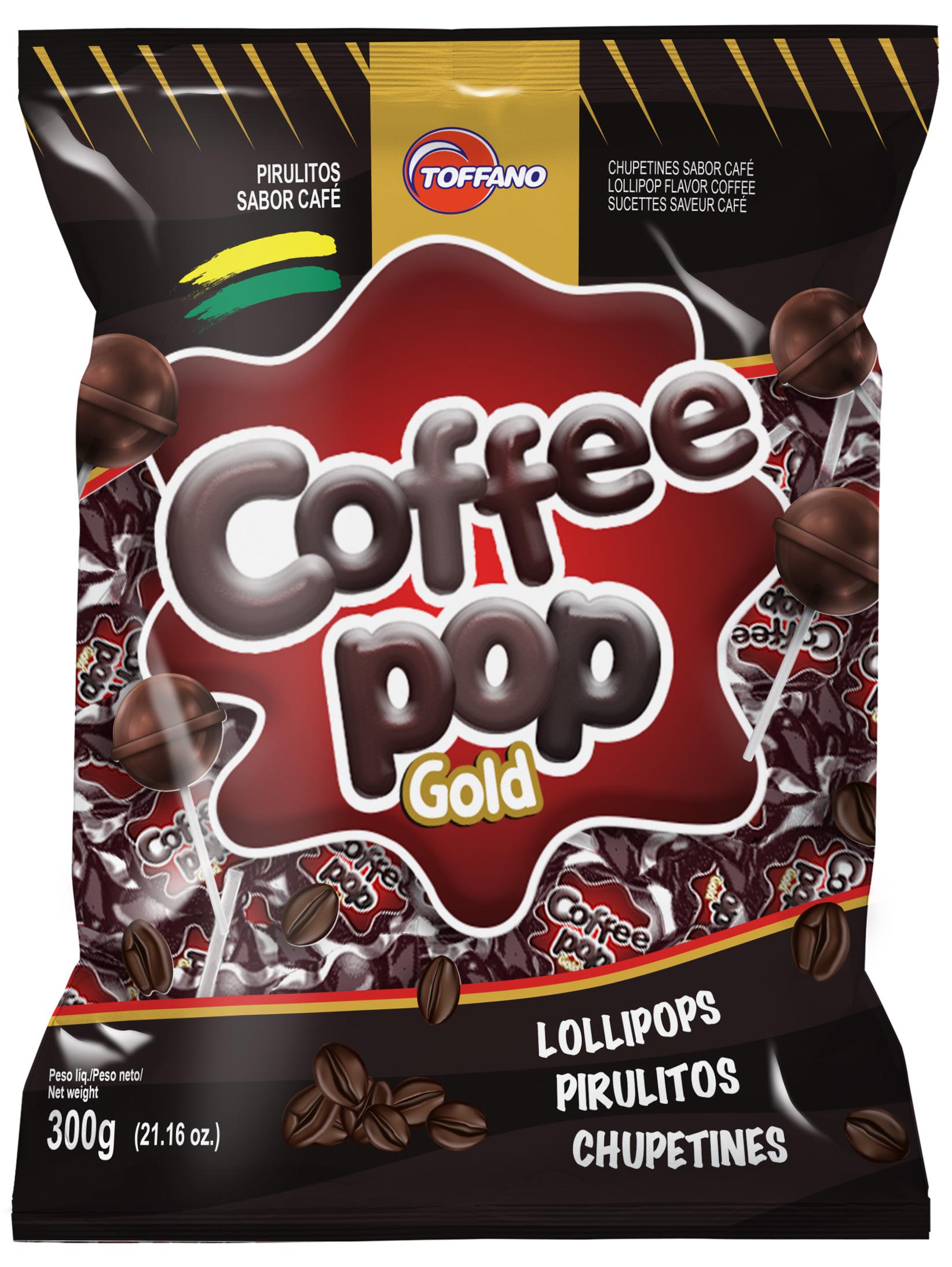 Pop Coffee Gold - Pirulito Café